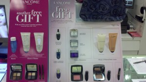 lancome gift with ourcase large pic at store display