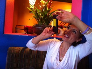 paola pic taking pic with phone, taken my Susie Woodruff at el torito 8-23-13
