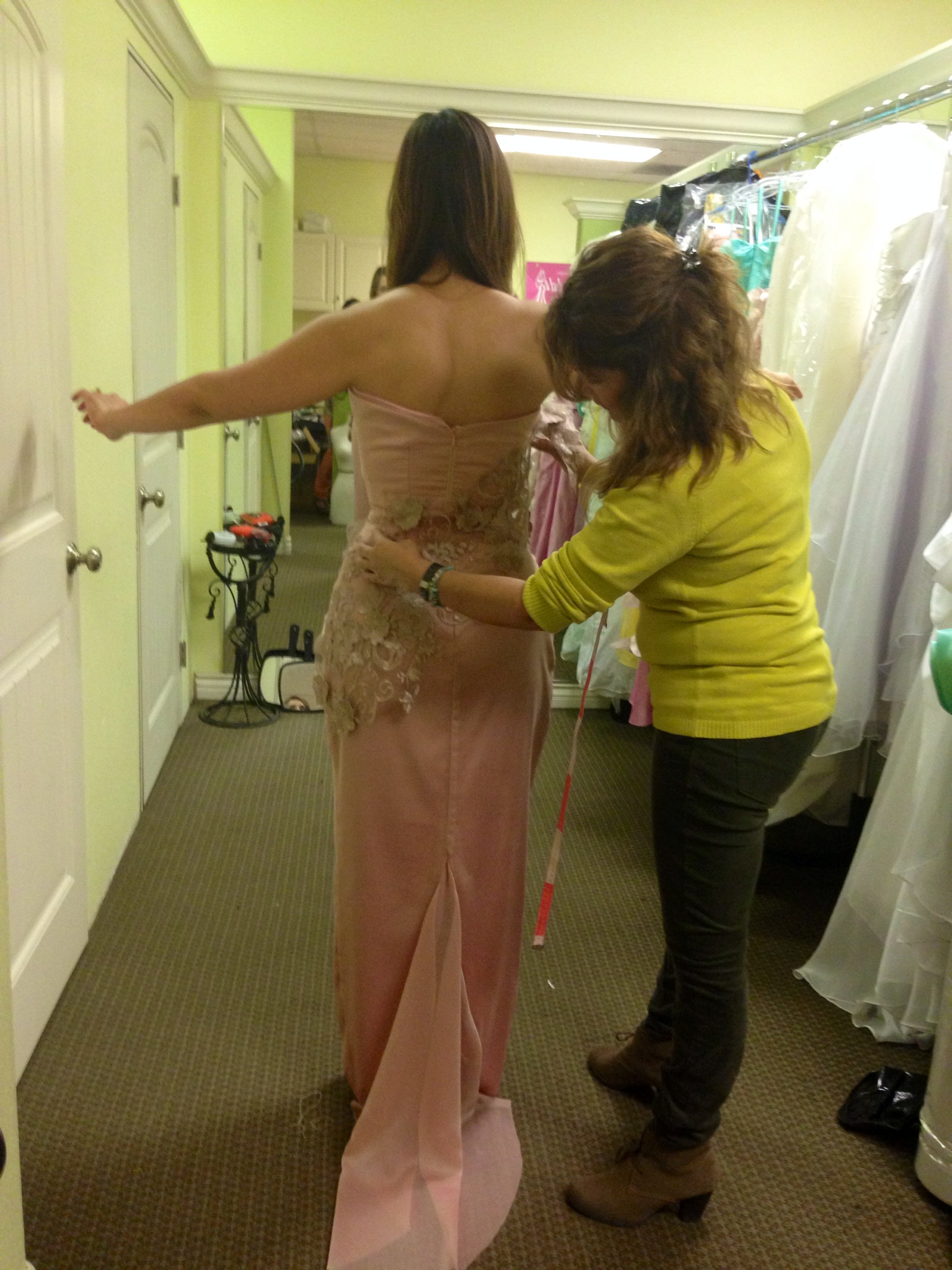 aurora dress fitting 2