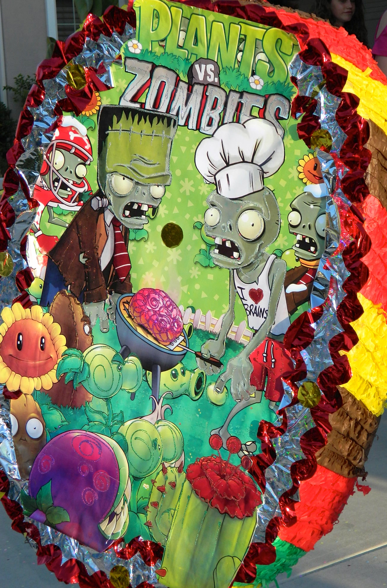 Plants Vs Zombies Birthday Party Flower Pot Cupcakespaola